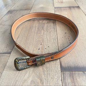 Vintage Textan Genuine Cowhide Belt USA Brown 32